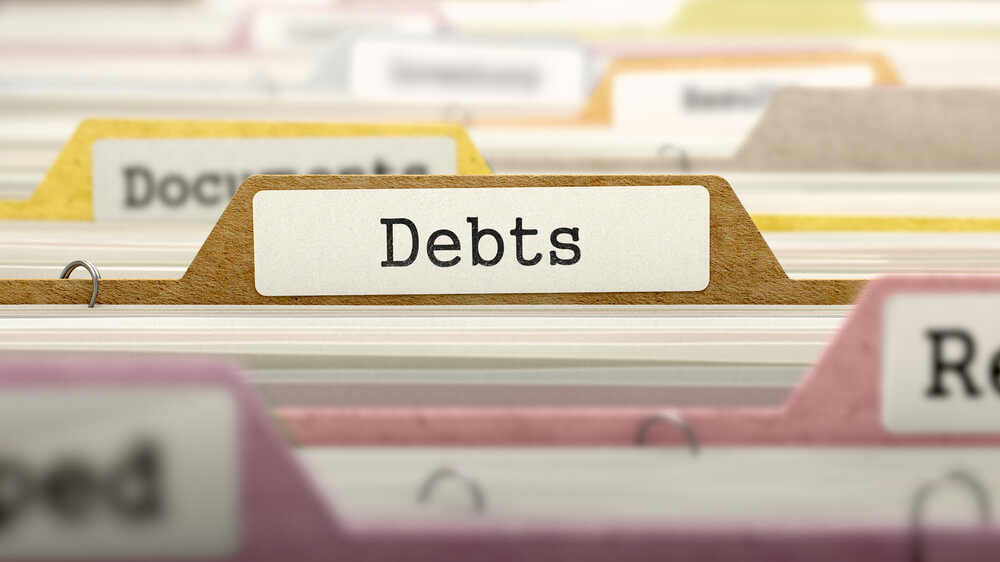 files with a folder named debts